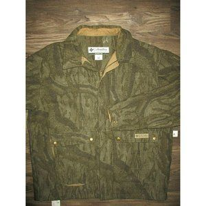 Columbia Wool Camo Coat Full Zip Camouflage Jacket